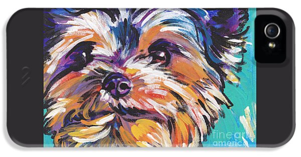 Yay Yorkie  IPhone 5 / 5s Case by Lea S