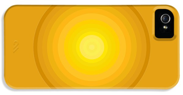 Yellow Circles IPhone 5 / 5s Case by Frank Tschakert
