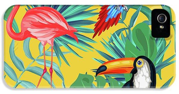 Yellow Tropic  IPhone 5 / 5s Case by Mark Ashkenazi