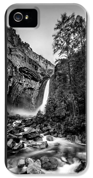 Yosemite Waterfall Bw IPhone 5 / 5s Case by Az Jackson