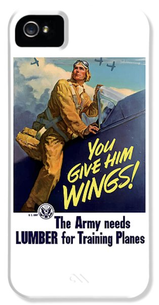 Plane iPhone 5 Cases - You Give Him Wings - WW2 iPhone 5 Case by War Is Hell Store