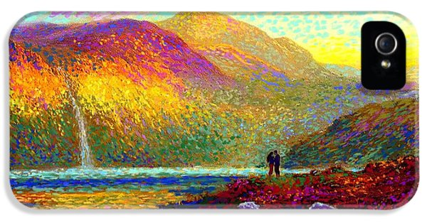 Your Love Colors My World, Modern Impressionism, Romantic Art IPhone 5 / 5s Case by Jane Small