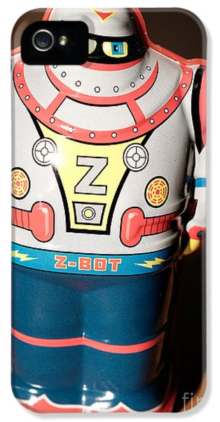 Robot iPhone 5 Cases - Z-Bot Robot Toy iPhone 5 Case by Edward Fielding