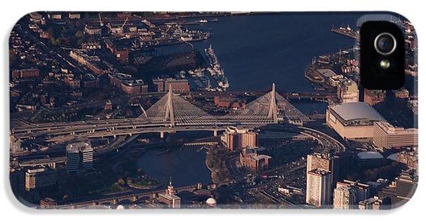 Boston iPhone 5 Cases - Zakim Bridge in Context iPhone 5 Case by Rona Black