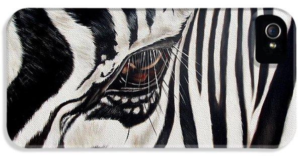 Zebra Eye IPhone 5 / 5s Case by Ilse Kleyn