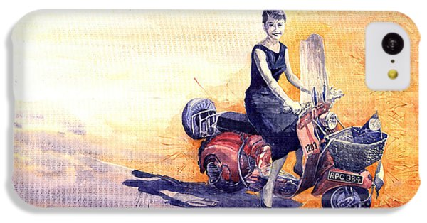 Audrey Hepburn And Vespa In Roma Holidey  IPhone 5c Case by Yuriy  Shevchuk