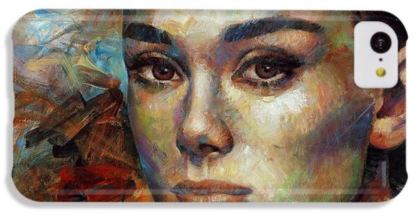 Audrey Hepburn IPhone 5c Case by Arthur Braginsky