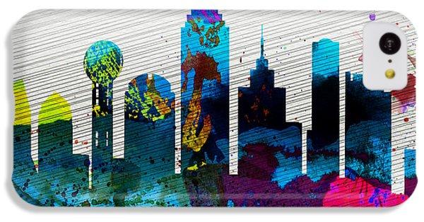 Dallas City Skyline IPhone 5c Case by Naxart Studio