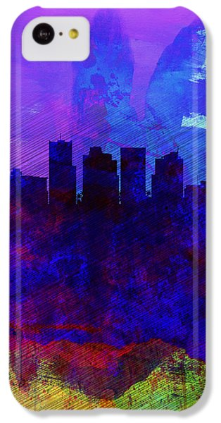 Phoenix Watercolor Skyline 1 IPhone 5c Case by Naxart Studio
