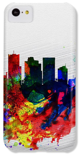 Phoenix Watercolor Skyline 2 IPhone 5c Case by Naxart Studio