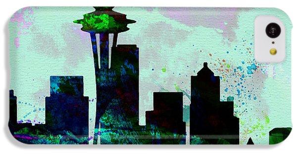 Seattle City Skyline IPhone 5c Case by Naxart Studio