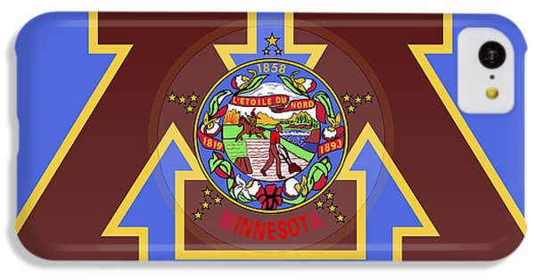U Of M Minnesota State Flag IPhone 5c Case by Daniel Hagerman