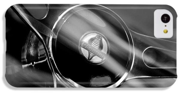 1965 Ford Mustang Cobra Emblem Steering Wheel IPhone 5c Case by Jill Reger