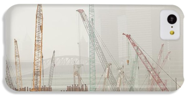 A Construction Site In Hong Kong IPhone 5c Case by Ashley Cooper