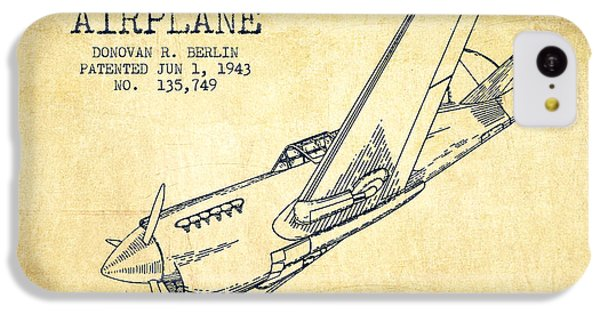 Airplane Patent Drawing From 1943-vintage IPhone 5c Case by Aged Pixel