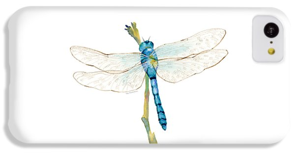 Blue Dragonfly IPhone 5c Case by Amy Kirkpatrick