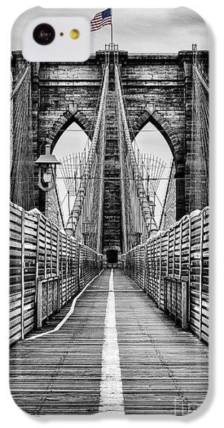 Brooklyn Bridge IPhone 5c Case by John Farnan