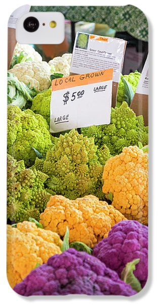 Cauliflower Market Stall IPhone 5c Case by Jim West