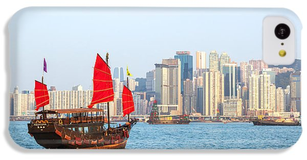 Chinese Junk Boat Sailing In Hong Kong Harbor IPhone 5c Case by Matteo Colombo