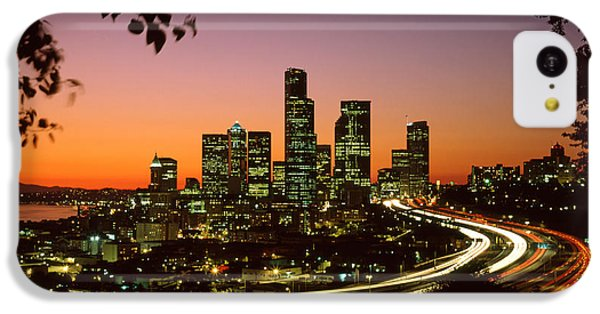 City Of Seattle Skyline IPhone 5c Case by King Wu