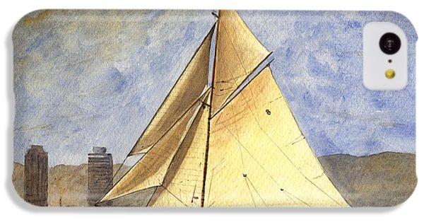 Classic Yacht Barcelona IPhone 5c Case by Juan  Bosco