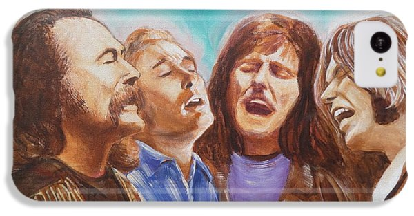 Crosby Stills Nash And Young IPhone 5c Case by Kean Butterfield