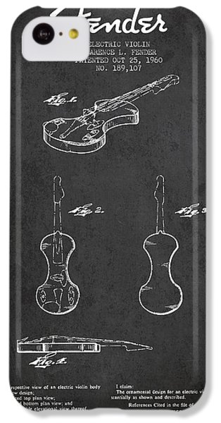 Electric Violin Patent Drawing From 1960 IPhone 5c Case by Aged Pixel