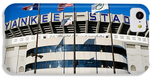 Flags In Front Of A Stadium, Yankee IPhone 5c Case by Panoramic Images