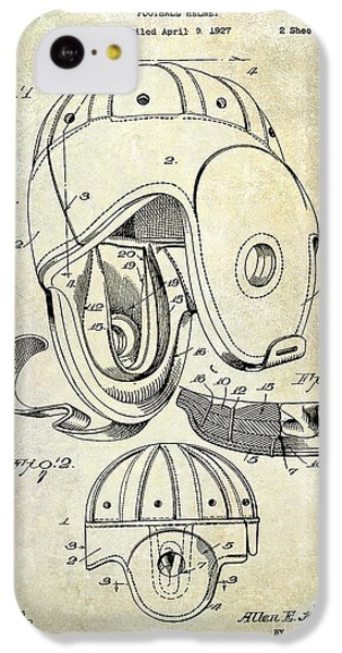 Football Helmet Patent IPhone 5c Case by Jon Neidert