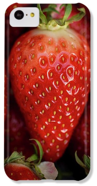 Gariguette Strawberries IPhone 5c Case by Aberration Films Ltd
