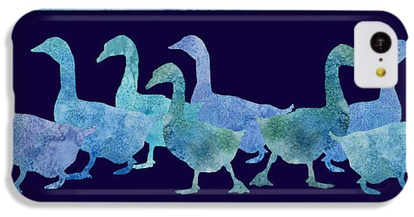 Geese Batik IPhone 5c Case by Jenny Armitage