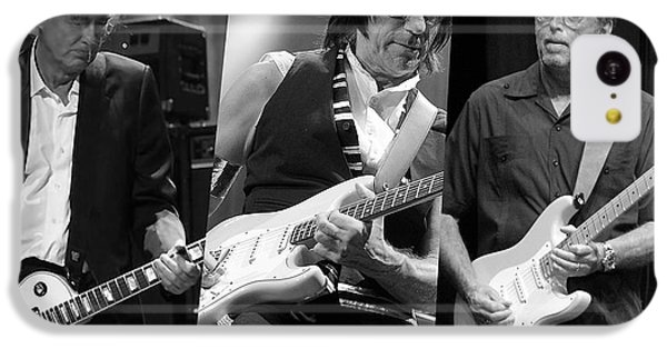 Guitar Legends Jimmy Page Jeff Beck And Eric Clapton IPhone 5c Case by Marvin Blaine