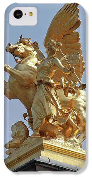Pegasus Statue At The Pont Alexander IPhone 5c Case by William Sutton