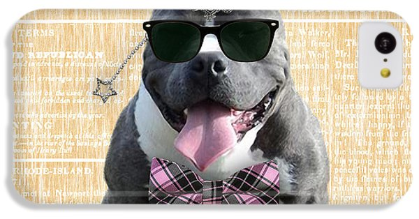 Pitbull Bowtie Collection IPhone 5c Case by Marvin Blaine