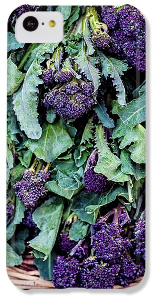 Purple Sprouting Broccoli IPhone 5c Case by Aberration Films Ltd