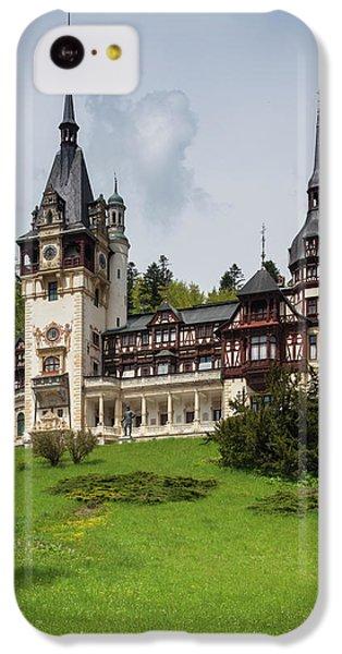 Romania, Transylvania, Sinaia, Peles IPhone 5c Case by Walter Bibikow