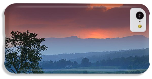 Sunset Over Mt. Mansfield In Stowe Vermont IPhone 5c Case by Don Landwehrle
