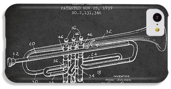 Vinatge Trumpet Patent From 1939 IPhone 5c Case by Aged Pixel