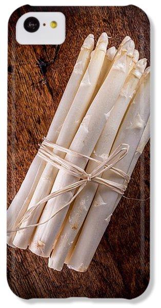 White Asparagus IPhone 5c Case by Aberration Films Ltd