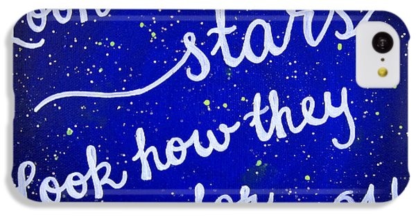11x14 Look At The Stars IPhone 5c Case by Michelle Eshleman