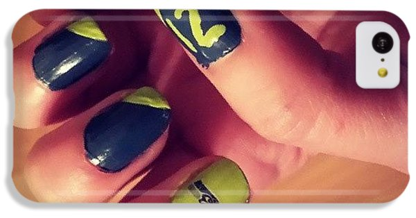 Seahawks iPhone 5C Cases - #12thman Nails #seahawks #superbowlbound iPhone 5C Case by Jamie Miles