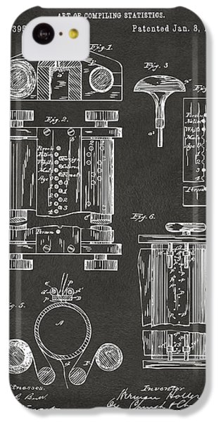 1889 First Computer Patent Gray IPhone 5c Case by Nikki Marie Smith