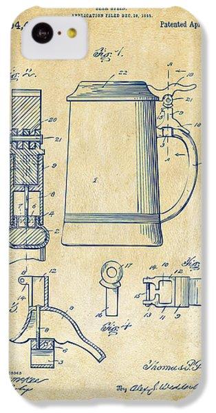1914 Beer Stein Patent Artwork - Vintage IPhone 5c Case by Nikki Marie Smith