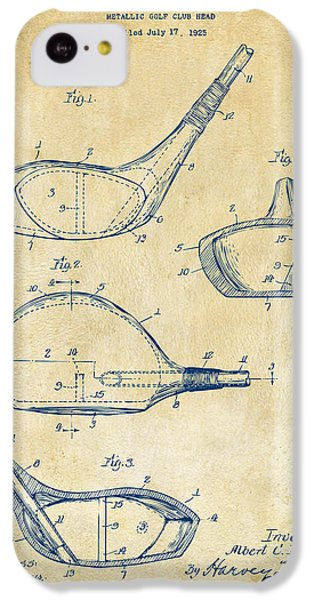 1926 Golf Club Patent Artwork - Vintage IPhone 5c Case by Nikki Marie Smith