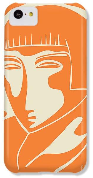 1928 Woman Face   Orange IPhone 5c Case by Igor Kislev