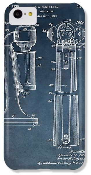 1930 Drink Mixer Patent Blue IPhone 5c Case by Dan Sproul