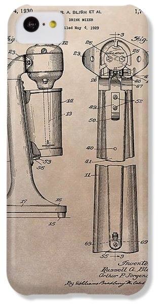 1930 Drink Mixer Patent IPhone 5c Case by Dan Sproul