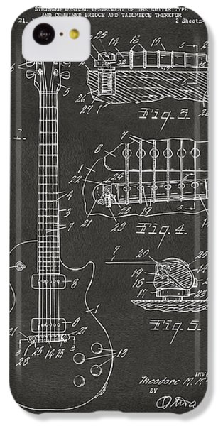 1955 Mccarty Gibson Les Paul Guitar Patent Artwork - Gray IPhone 5c Case by Nikki Marie Smith