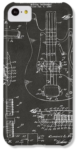 1961 Fender Guitar Patent Artwork - Gray IPhone 5c Case by Nikki Marie Smith