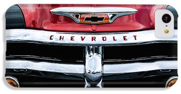 1955 Chevrolet 3100 Pickup Truck Grille Emblem IPhone 5c Case by Jill Reger